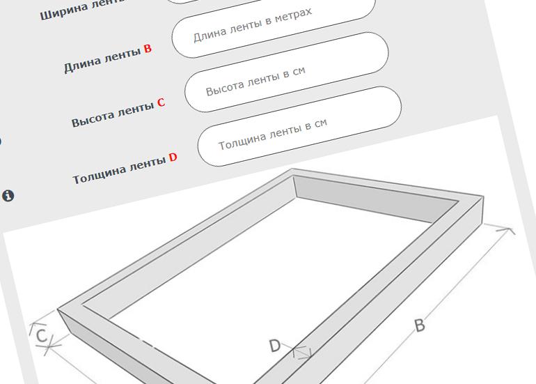 Калькулятор расчета объема бетона по выбранным критериям